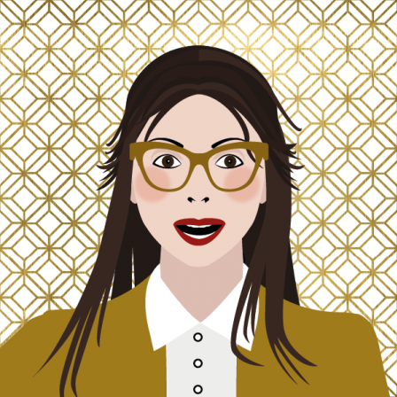 Illustration - avatar for Optiekpunt - gold touch